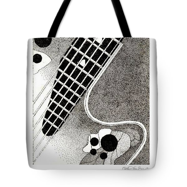 Tote Bag featuring the drawing Elite by Arthur Eggers