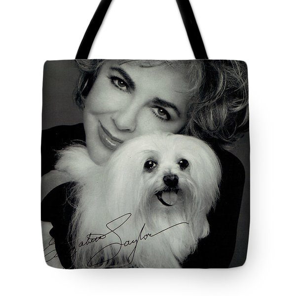 Elizabeth Taylor And Friend Tote Bag by Studio Photo