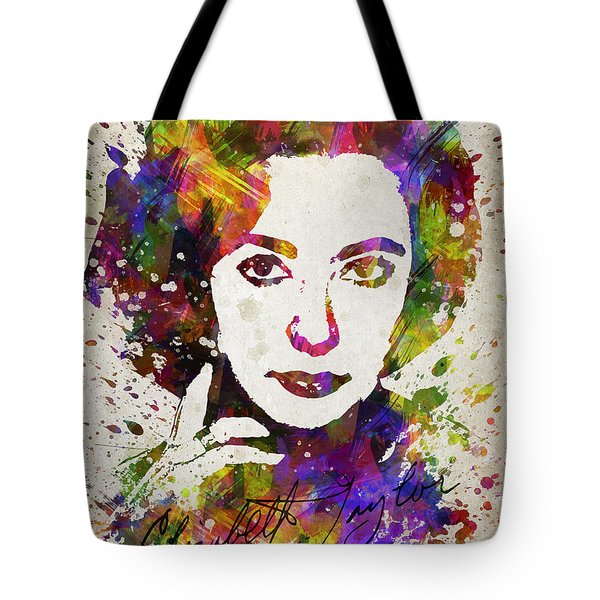Elizabeth Taylor In Color Tote Bag