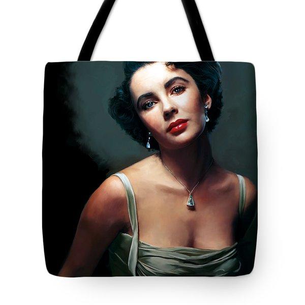 Elizabeth Taylor Tote Bag by Paul Tagliamonte