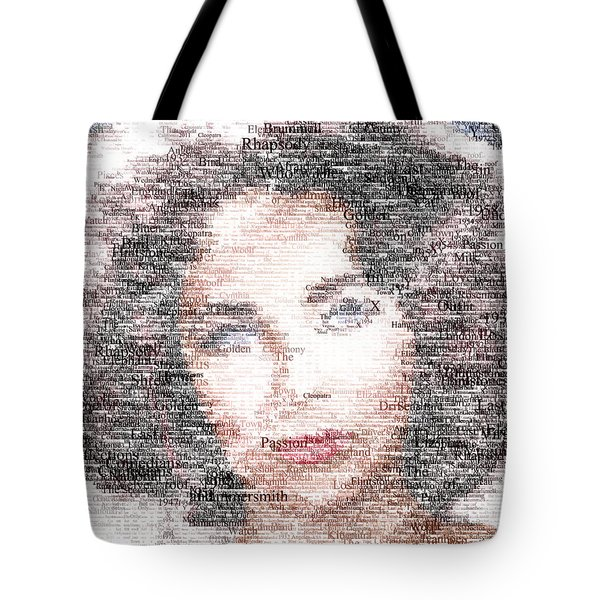 Elizabeth Taylor Typo Tote Bag