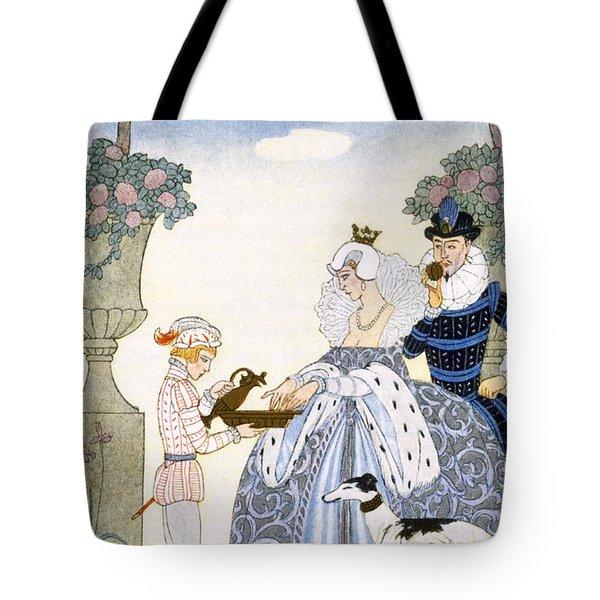 Elizabethan England Tote Bag by Georges Barbier