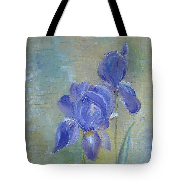 Elizabeth's Irises Tote Bag