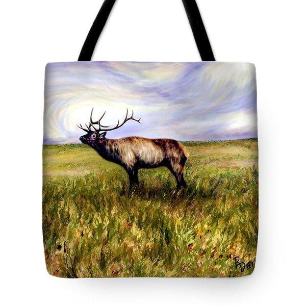 Elk At Dusk Tote Bag