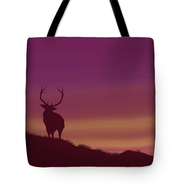 Elk At Dusk Tote Bag