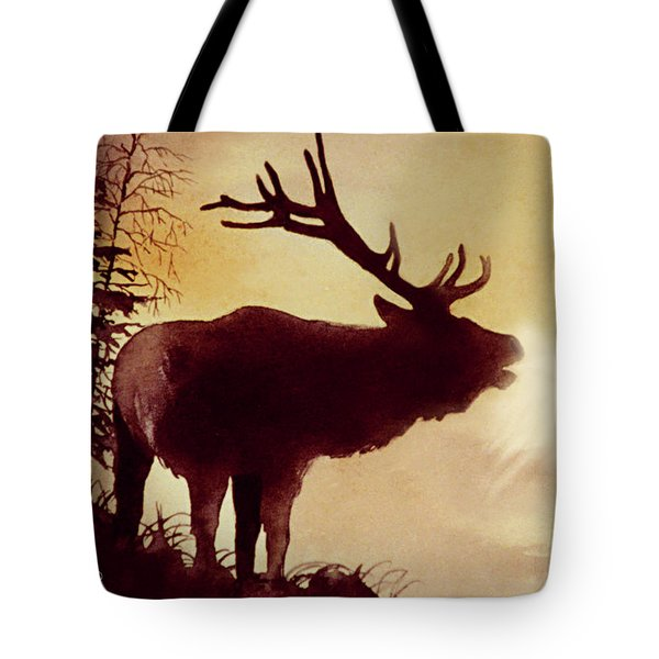 Tote Bag featuring the painting Elk Bugle by Jill Westbrook