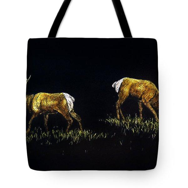 Elk Bulls Tote Bag