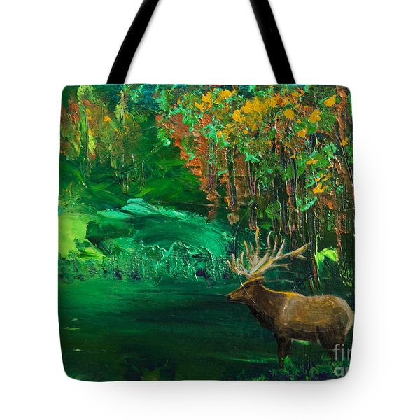 Elk Fall Tote Bag by Tracy L Teeter