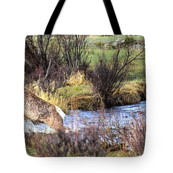 Elk In Motion Tote Bag