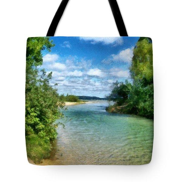 Elk River- Elk Rapids Michigan Tote Bag