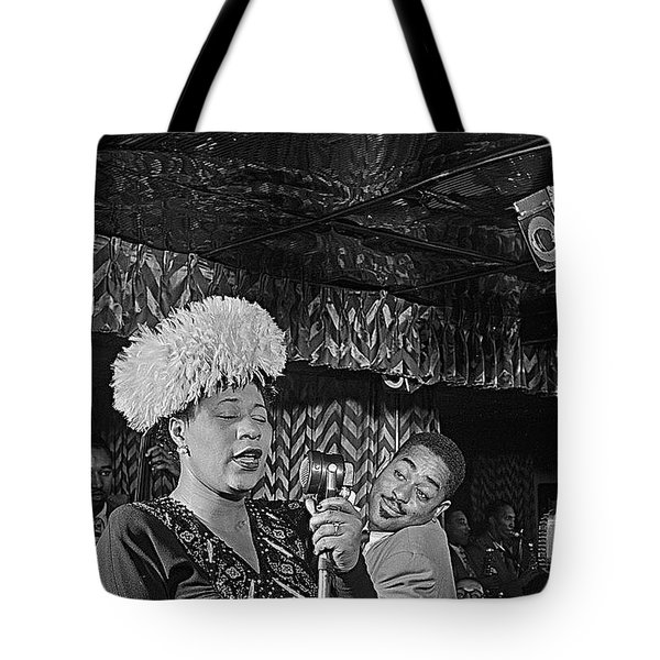 Ella Fitzgerald And Dizzy Gillespie William Gottleib Photo Unknown Location September 1947-2014. Tote Bag