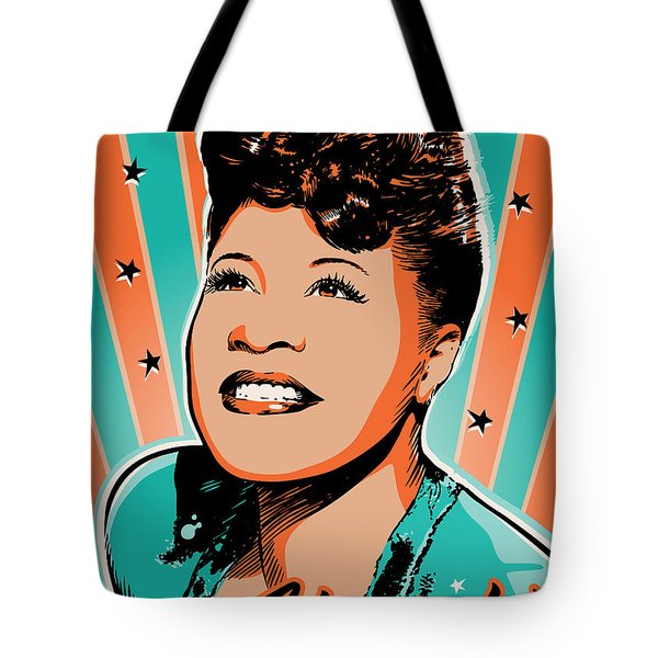 Ella Fitzgerald Pop Art Tote Bag