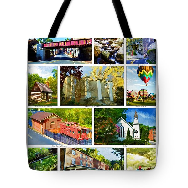 Tote Bag featuring the photograph Ellicott City Maryland by Dana Sohr