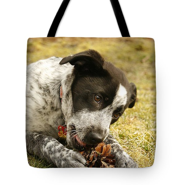 Ellie Vs. The Pine Cone Tote Bag by Kristia Adams