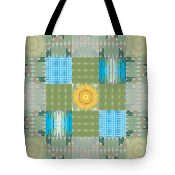 Tote Bag featuring the digital art Ellipse Quilt 1 by Kevin McLaughlin