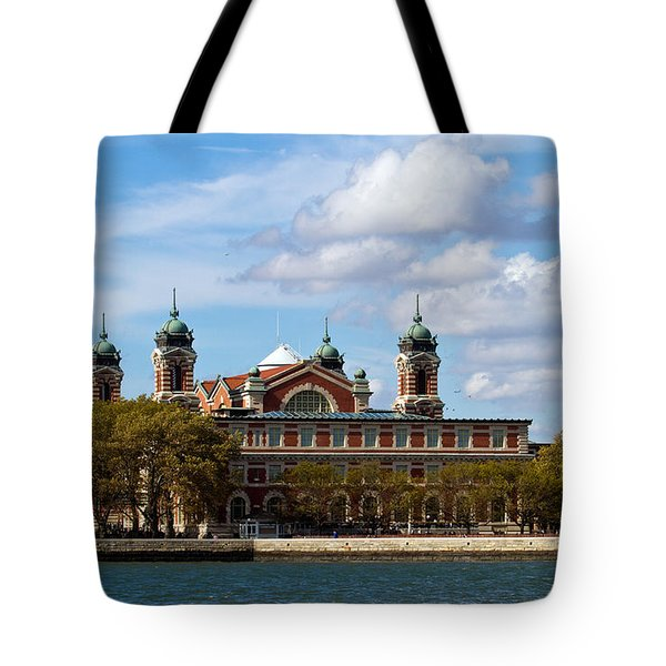 Tote Bag featuring the photograph Ellis Island by Eleanor Abramson