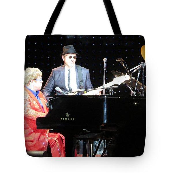 Elton Plays The Blues In Macon Ga Tote Bag by Aaron Martens