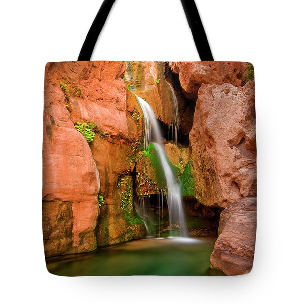 Elves Chasm Waterfall, Grand Canyon Tote Bag