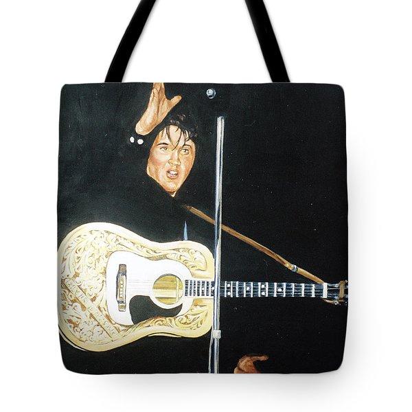 Elvis 1956 Tote Bag by Bryan Bustard