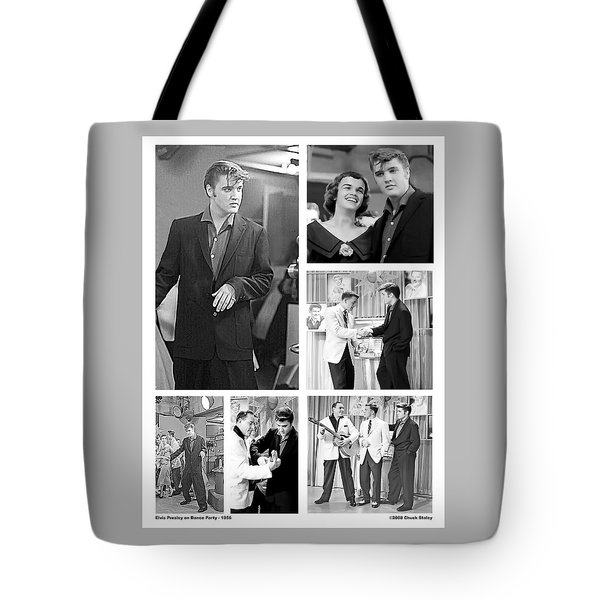 Elvis Collage Tote Bag by Chuck Staley