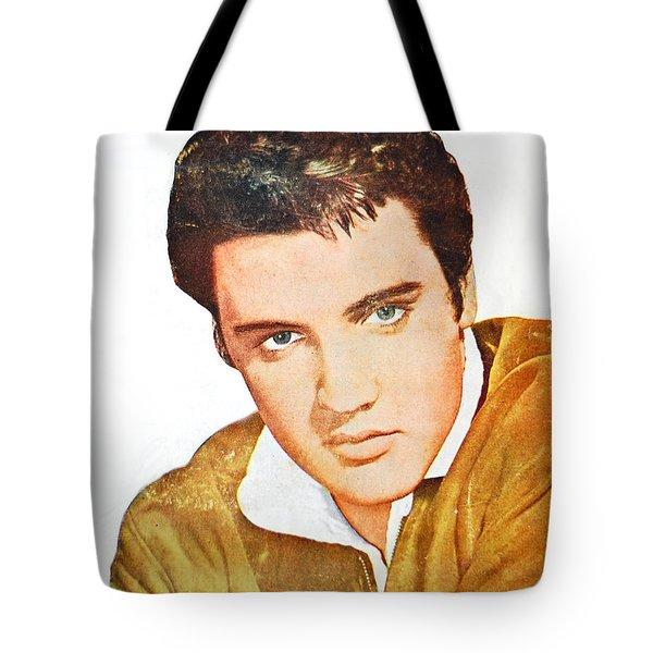 Elvis Colored Portrait Tote Bag