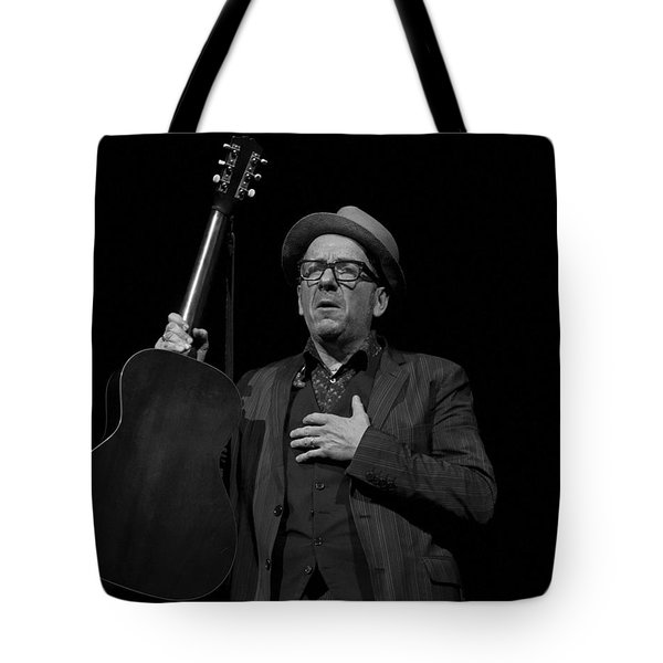 Elvis Costello Tote Bag by Jeff Ross