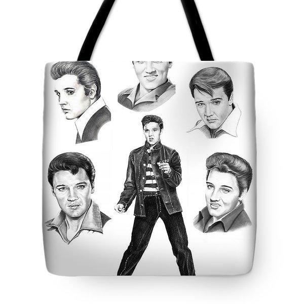 Elvis Elvis Elvis Tote Bag by Murphy Elliott
