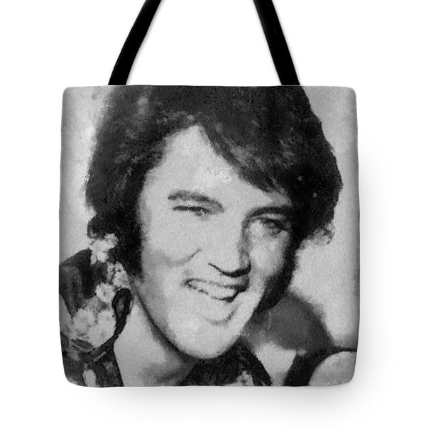 Elvis Presley Rock N Roll Star Tote Bag by Georgi Dimitrov