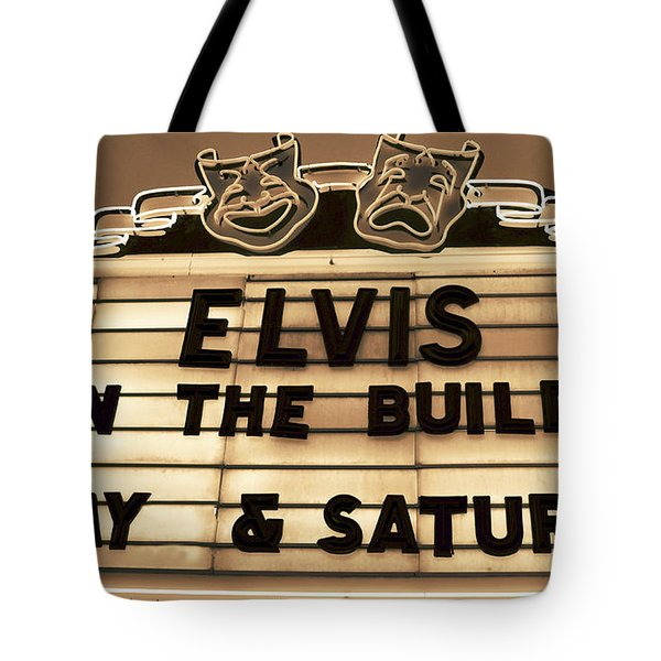 Elvis Is In Tote Bag
