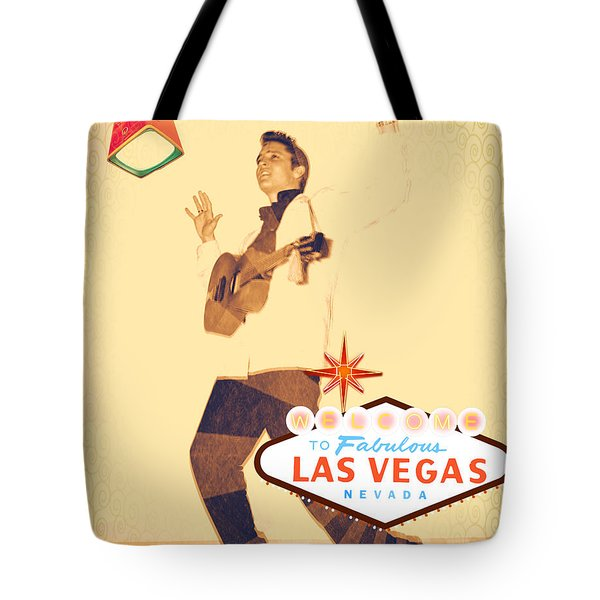 Elvis On Tv Tote Bag