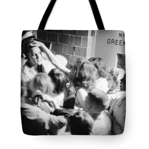 Elvis Presley Mobbed By Adoring Fans 1956 Tote Bag