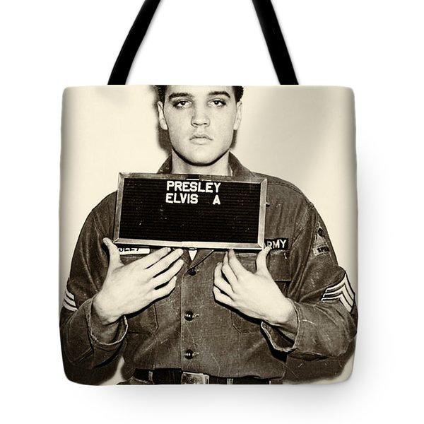 Elvis Presley - Mugshot Tote Bag
