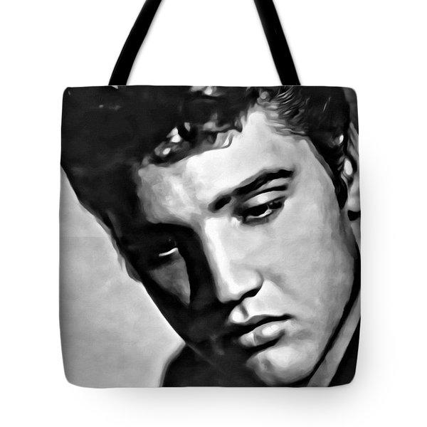 Elvis Presley Painting Tote Bag by Florian Rodarte