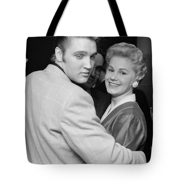 Elvis Presley Parties With Fans 1956 Tote Bag