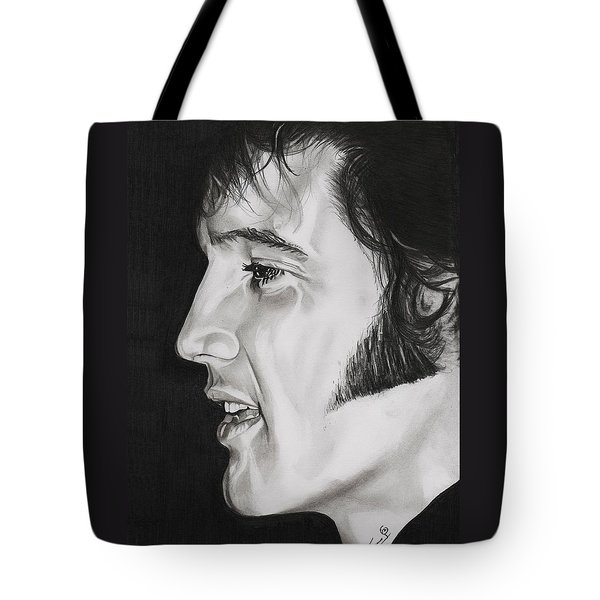 Elvis Presley  The King Tote Bag by Fred Larucci
