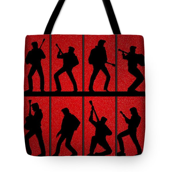 Elvis Silhouettes Comeback Special 1968 Tote Bag