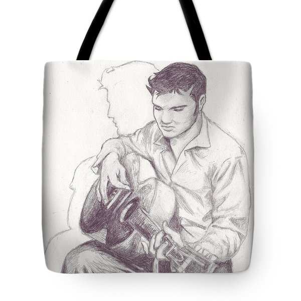 Elvis Sketch Tote Bag