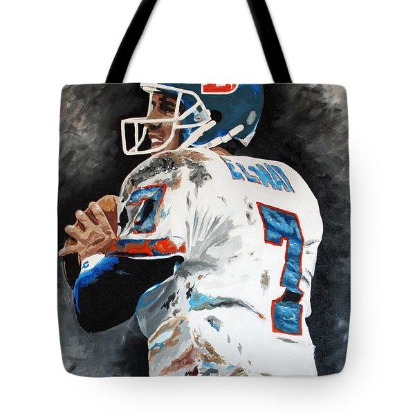 Elway Tote Bag by Don Medina