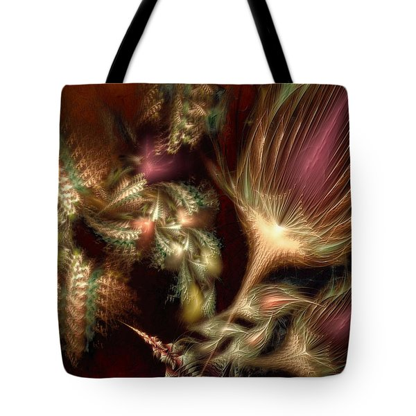 Tote Bag featuring the digital art Elysian by Casey Kotas