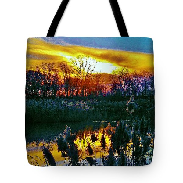 Tote Bag featuring the photograph Emagin Sunset by Daniel Thompson