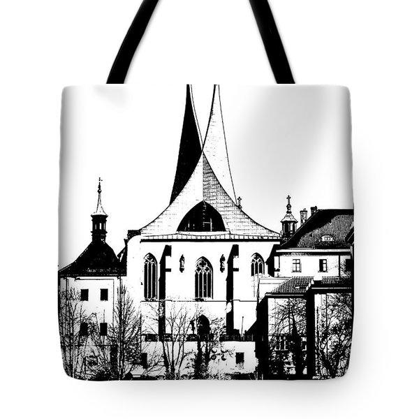 Emauzy - Benedictine Monastery Tote Bag by Michal Boubin