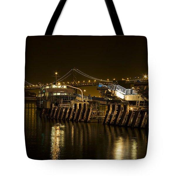 Embarcadero Boats Tote Bag