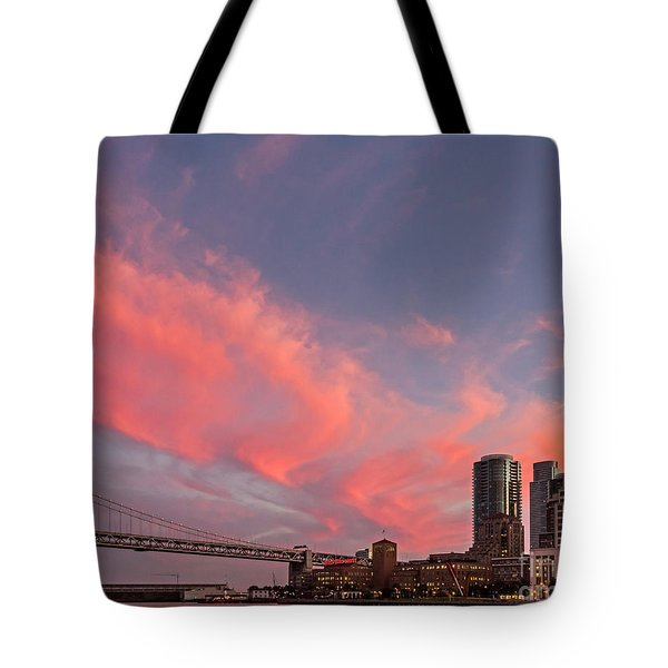 Tote Bag featuring the photograph Embarcadero Sunset by Kate Brown