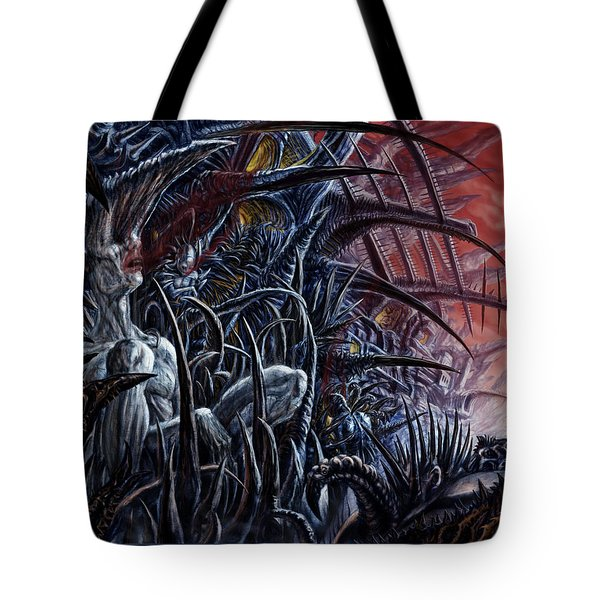 Embedded Into A World Of Pain Tote Bag
