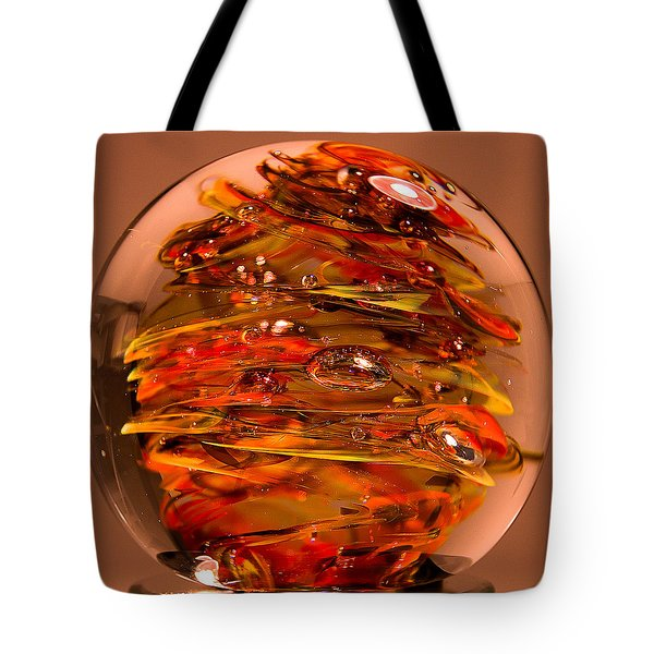Ember Swirls  Fe1 Tote Bag by David Patterson