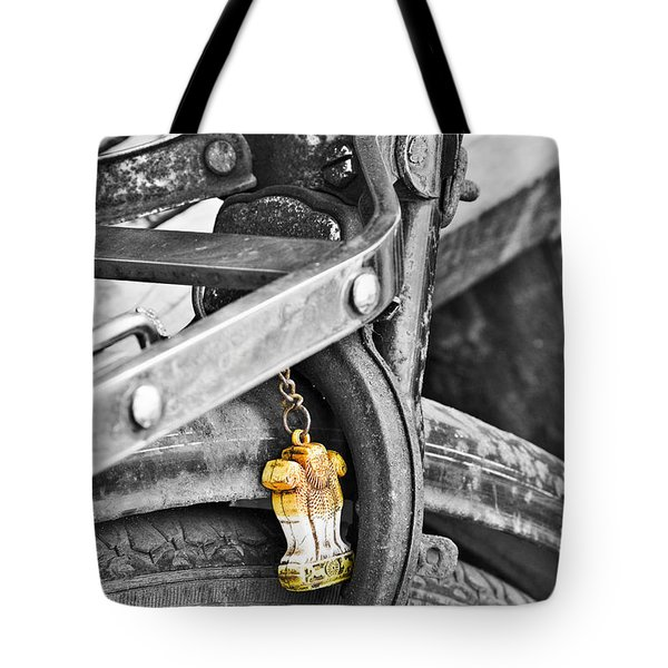 Emblem Of India Tote Bag
