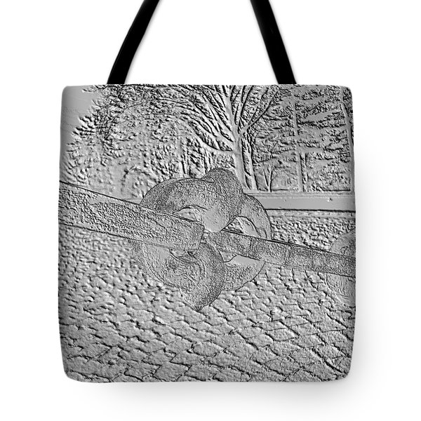 Embossed Chain Tote Bag by Michael Porchik