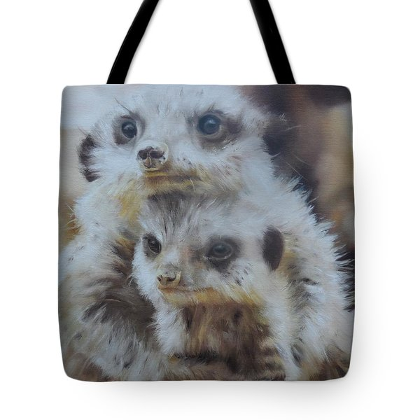 Tote Bag featuring the painting Embraced by Cherise Foster