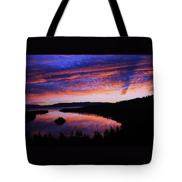 Tote Bag featuring the photograph Emerald Bay Awakens by Sean Sarsfield