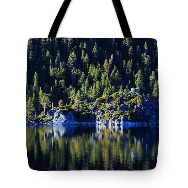 Tote Bag featuring the photograph Emerald Bay Teahouse by Sean Sarsfield